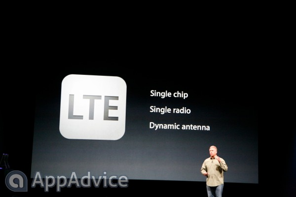 Apple marketing chief Phil Schiller touting LTE on iPhone.