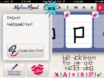 Make Messaging Personal Again By Winning A Copy Of MyRealFont Pro