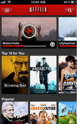 Netflix Update Brings Support For The iPhone 5's 16:9 Screen