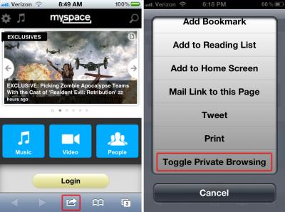 Enable Private Browsing Inside Of Safari With This New Jailbreak Tweak