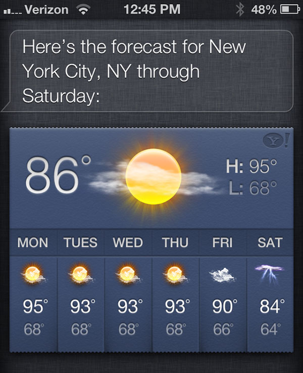 Siri Needs To Get Her Head Out Of The Clouds