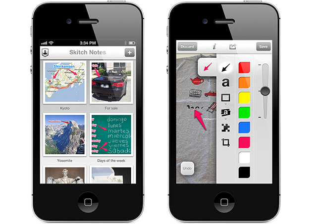 Skitch 2.0 - iOS Integration