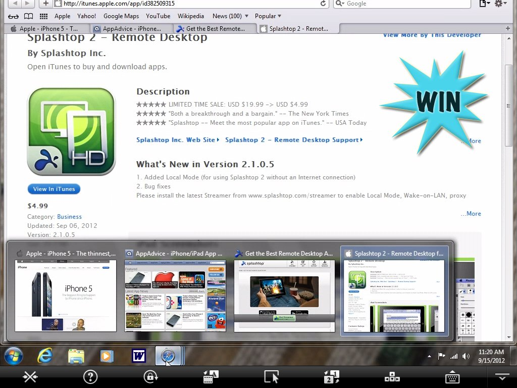 It's Another Chance To Win Splashtop 2 Remote Desktop For iPad