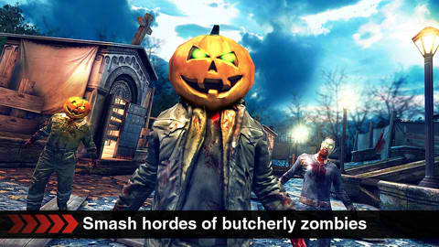 Say Hallo To Hordes Of Pumpkin-Head Zombies In Dead Trigger's Halloween Update