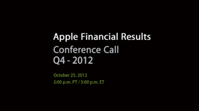Apple To Post Q4 Financial Results On Oct. 25