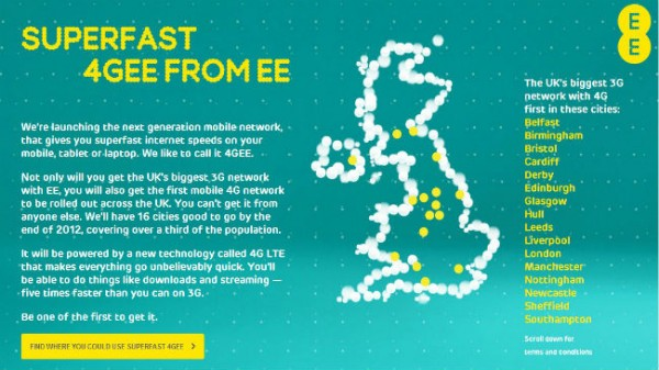 EE To Launch UK's First LTE Network On October 30