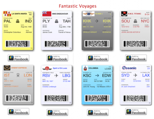 Empty Passbook App? Then Add These Fun, Historic Novelty Passes