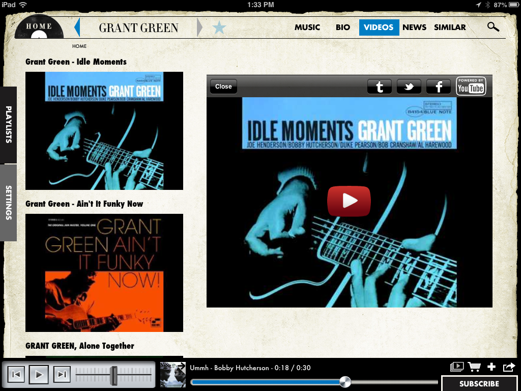 Blue Note for iPad