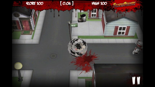 Kill Zombies By Running Them Over With A Giant Ball In Zombie Rollers