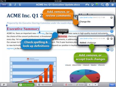 Popular iPad Office Suite Quickoffice Pro HD Introduces Tracking, Commenting And More