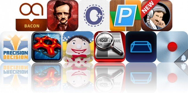 Today's Apps Gone Free: The Better Bacon Book, iPoe, Outline And More