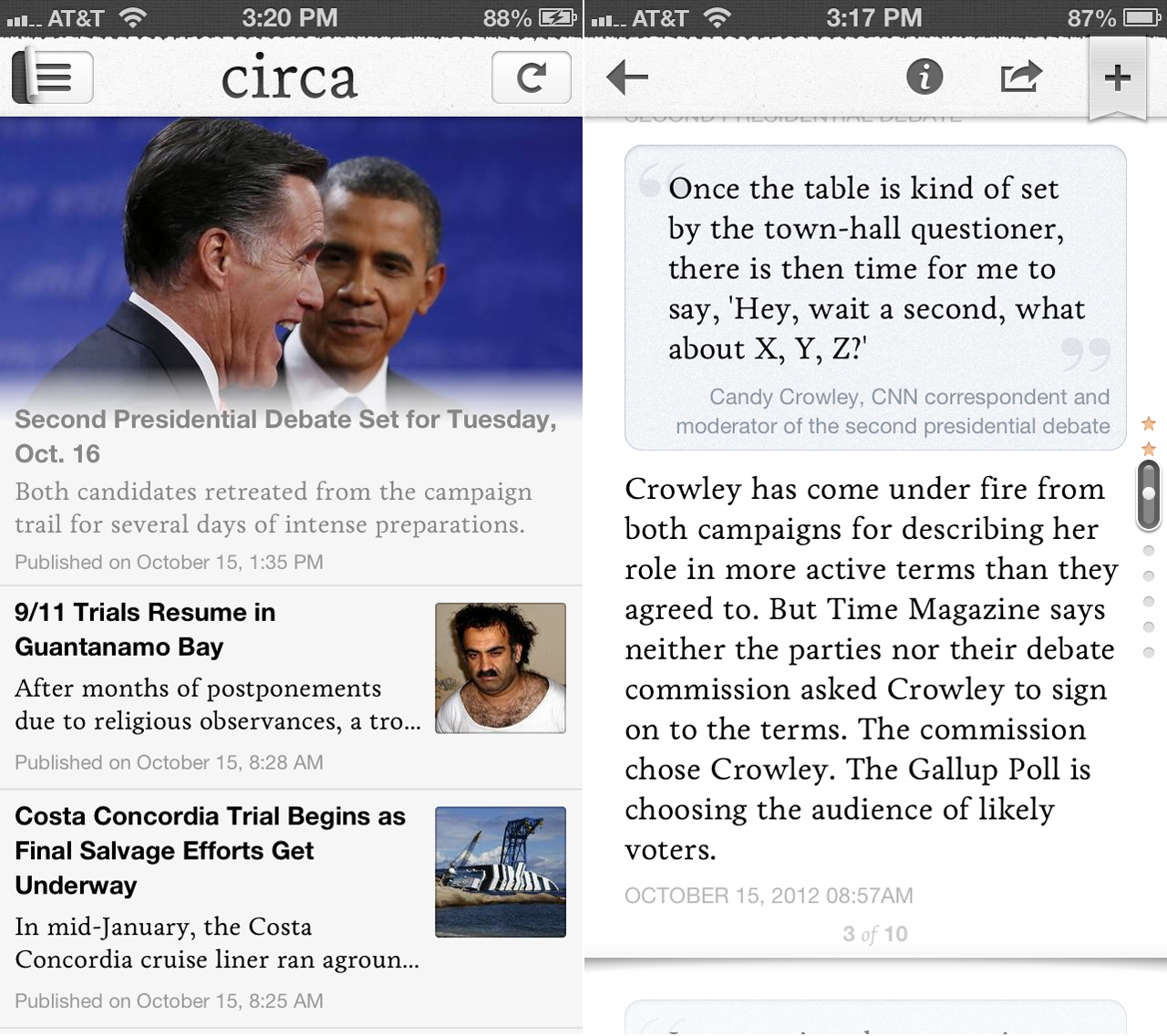 Circa Launches Their Innovatively Mobilized News App For iPhone
