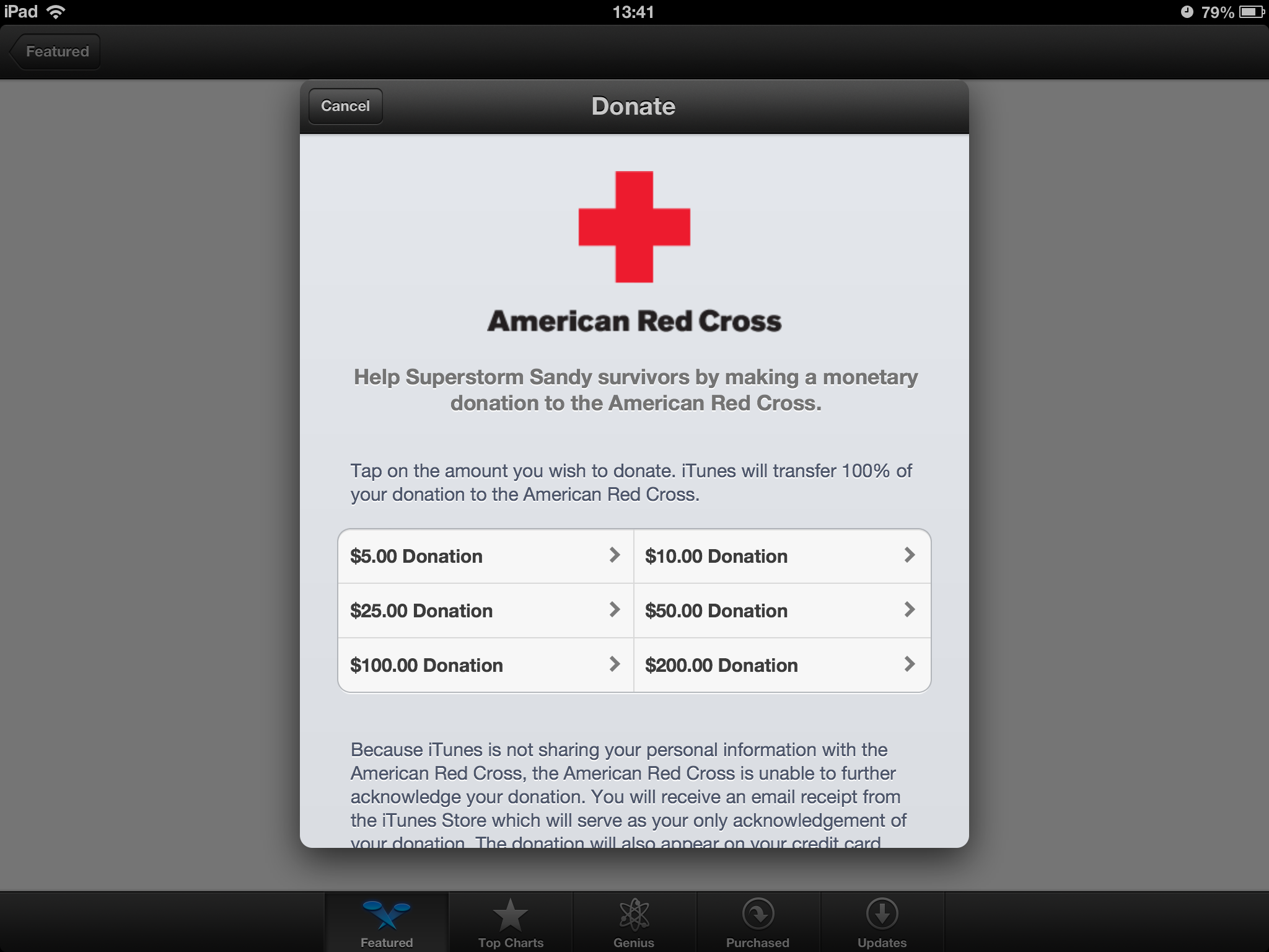 Apple Lets You Easily Donate To Charity Aid Superstorm Sandy Relief