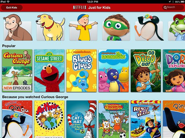 Netflix Introduces Kid-Friendly Section For iPad Users