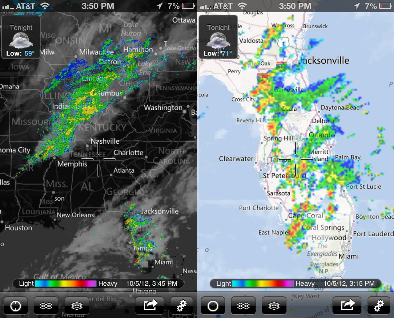 radar app for iphone myradar weather radar gains new map data and iphone 5 support 7833