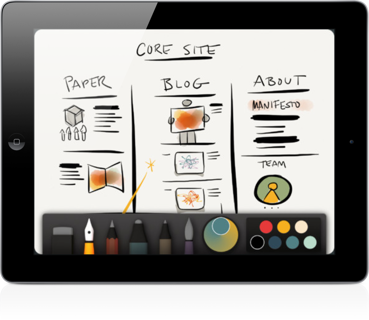 Paper by FiftyThree Now Includes A Palette Mixer And Other Amazing Tools
