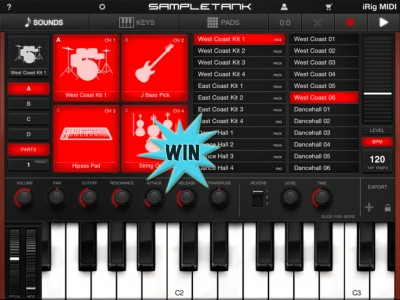 Take Your MIDI Keyboard To New Heights By Winning SampleTank