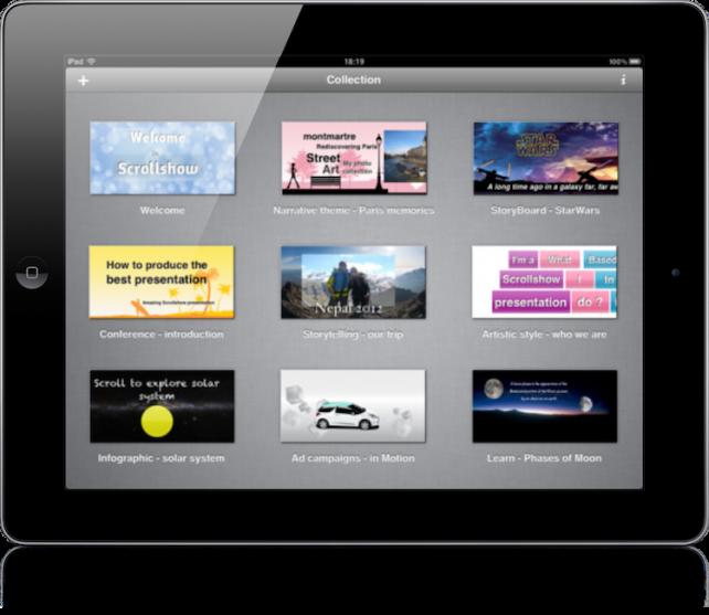 New Scrollshow Presentation App For iPad Shows Promise