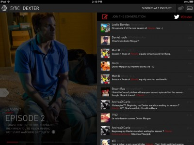 Showtime Sync For iPad Gains Social Network Integration