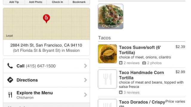 Yelp Gets A Scary Update That Includes An Explore The Menu Feature