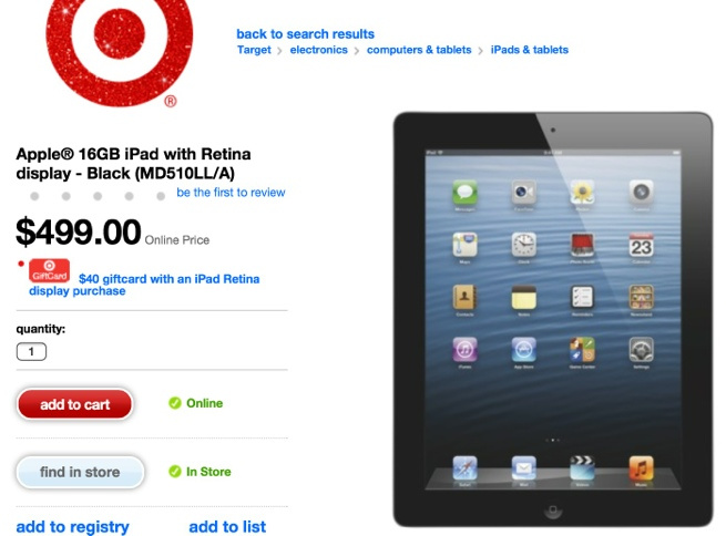 Thanks Target, You Saved Me $40 On My New iPad Purchase