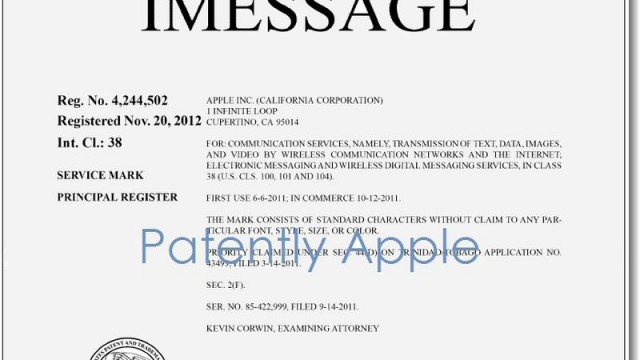 Apple Now Owns The iMessage Name As They Also Apply For Another Passbook Trademark