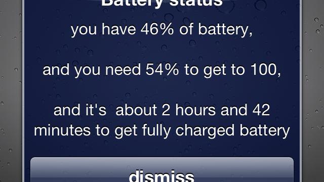Battery Status Jailbreak Tweak Speaks Out Important Battery Life Information