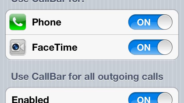 CallBar Jailbreak Tweak Updated: Adds New Features, Plus iOS 6 Support