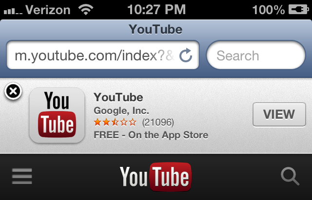 Not-So-Smart Jailbreak Tweak Can Remove Those Annoying Safari 'Smart Banners' In iOS 6