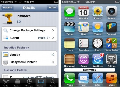 InstaSafe Jailbreak Tweak Can Quickly Boot Your iPhone Into Safe Mode