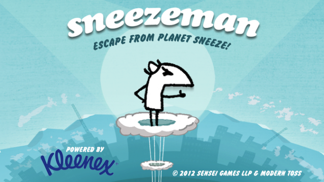Quirky App Of The Day: Use Your Sneezes To Help Sneezeman Escape From Sneezeworld