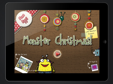 Have A Merry Monster Christmas With This Hairy Interactive Storybook App