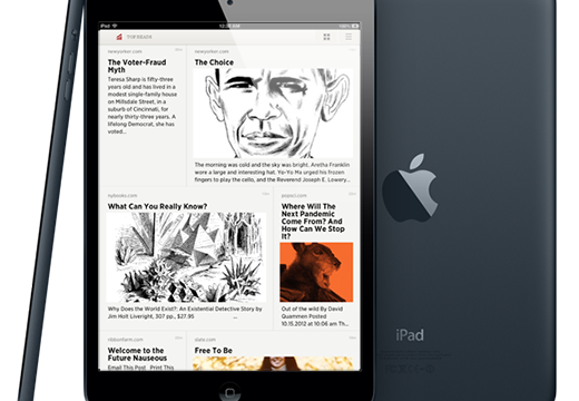 Readability Introduces Elegant Grid View For Its Curated Reading Lists On iPad