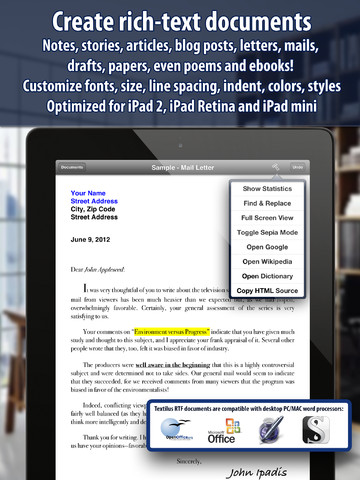 Markdown Support And Other Features Come To Rich-Text Word Processing App Textilus