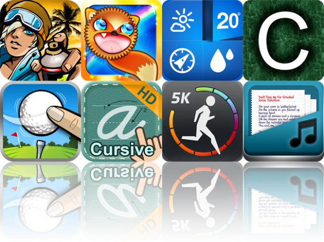 Today's Apps Gone Free: FreeSkate Xtreme, Twang The Fox, Weathercube And More