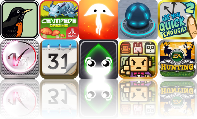 Today's Apps Gone Free: Peterson Birds, Centipede: Origins, Spirits And More