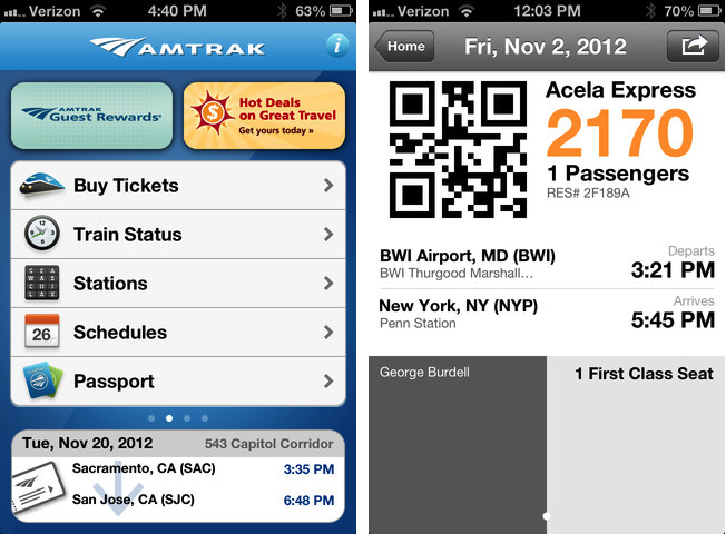 Amtrak Now Supports Passbook