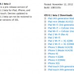 Apple Releases Second Beta Of iOS 6.1 To Developers