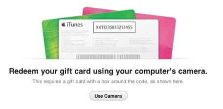 With iTunes 11, You Can Now Use A Mac's Camera To Redeem An iTunes Gift Card