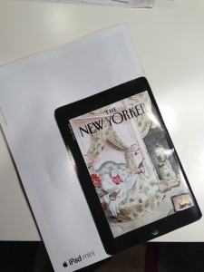 Flip To The Back Of This Week's The New Yorker To See A Great iPad mini Ad
