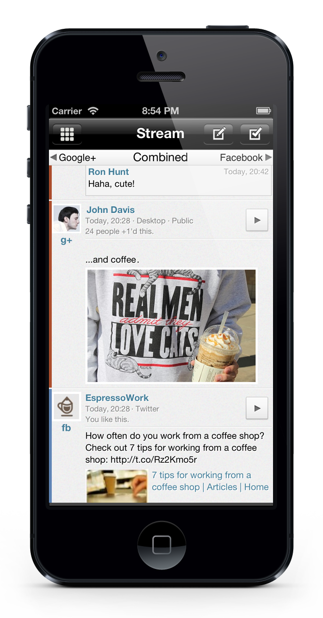 Combine Facebook And Google+ Into One App With Jift