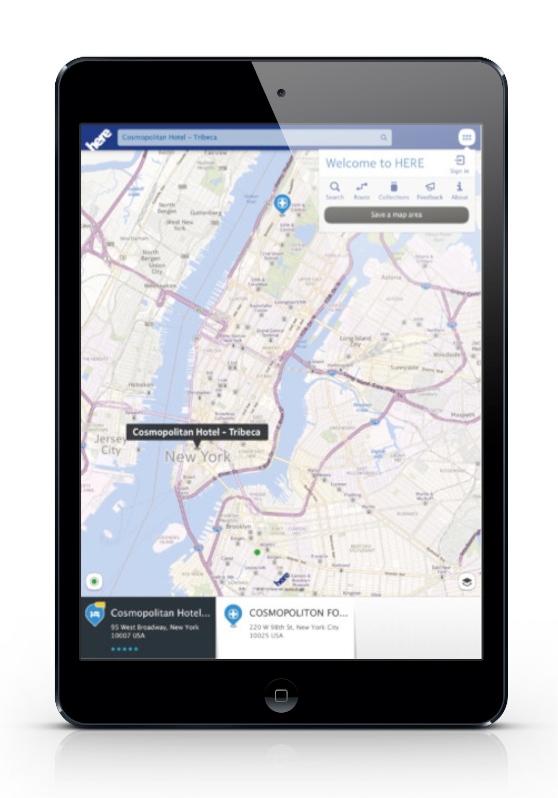 Nokia's HERE Maps, iPad mini