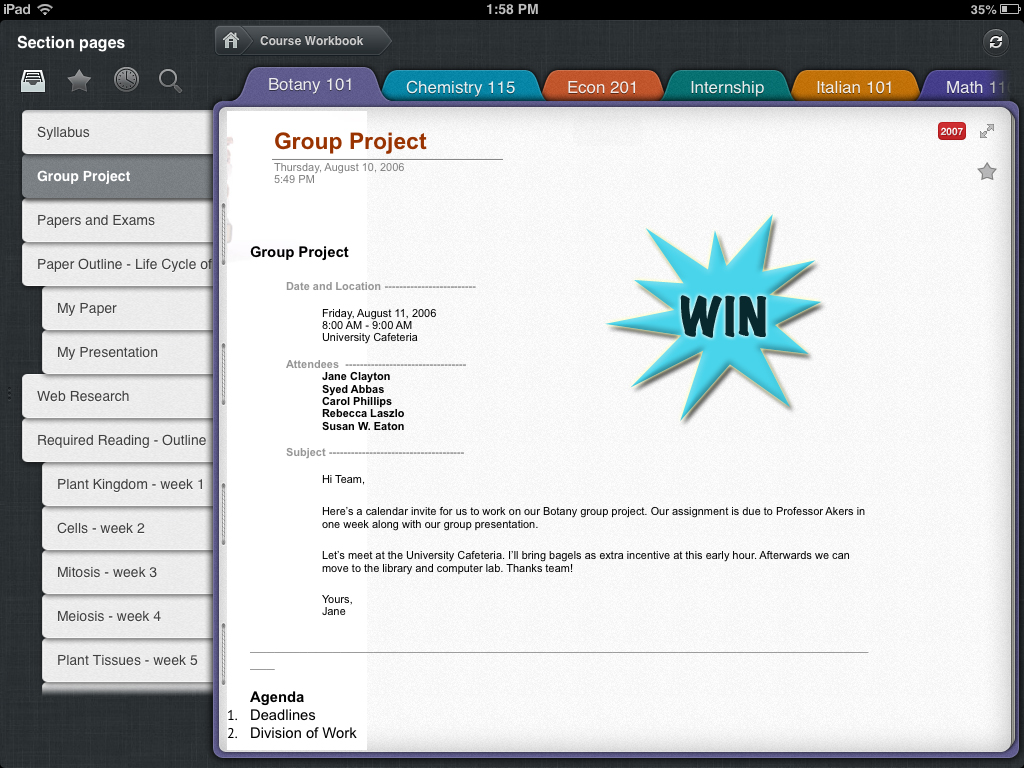 Increase Your Note-Taking Efficiency By Winning Outline+ For iPad