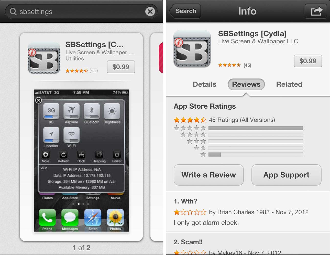 Scam Alert: Fake SBSettings Jailbreak App Appears In The App Store