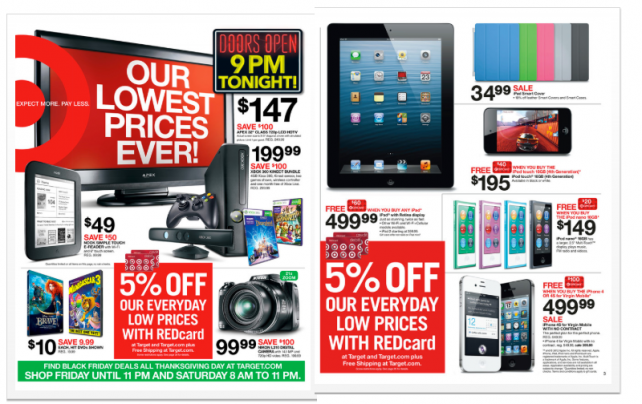 black friday iphone deals beginning thanksgiving day target to offer sales for 2012