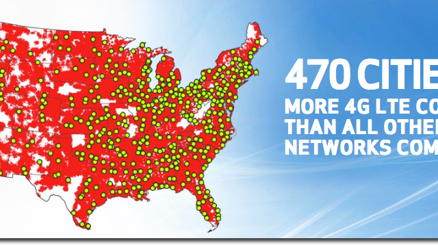 Verizon's 4G LTE Coverage Map Expands Yet Again