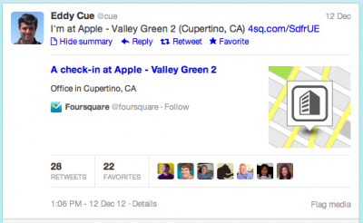 Is An Apple-Foursquare 'Check-In' Just Around The Corner?