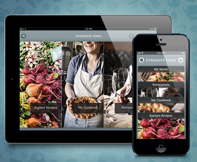 Evernote Food 2.0 Serves Yummy New Interface Plus iPad Optimization
