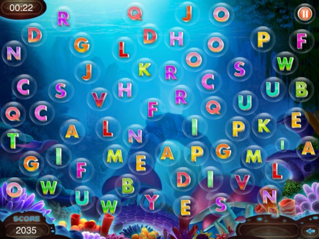 Pop Bubbles To Spell Words Under The Sea In Worbble
