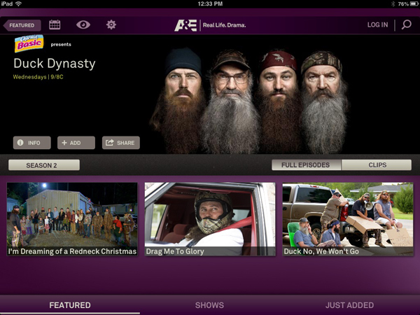 Three Popular Cable Television Channels Now Have iPad Apps